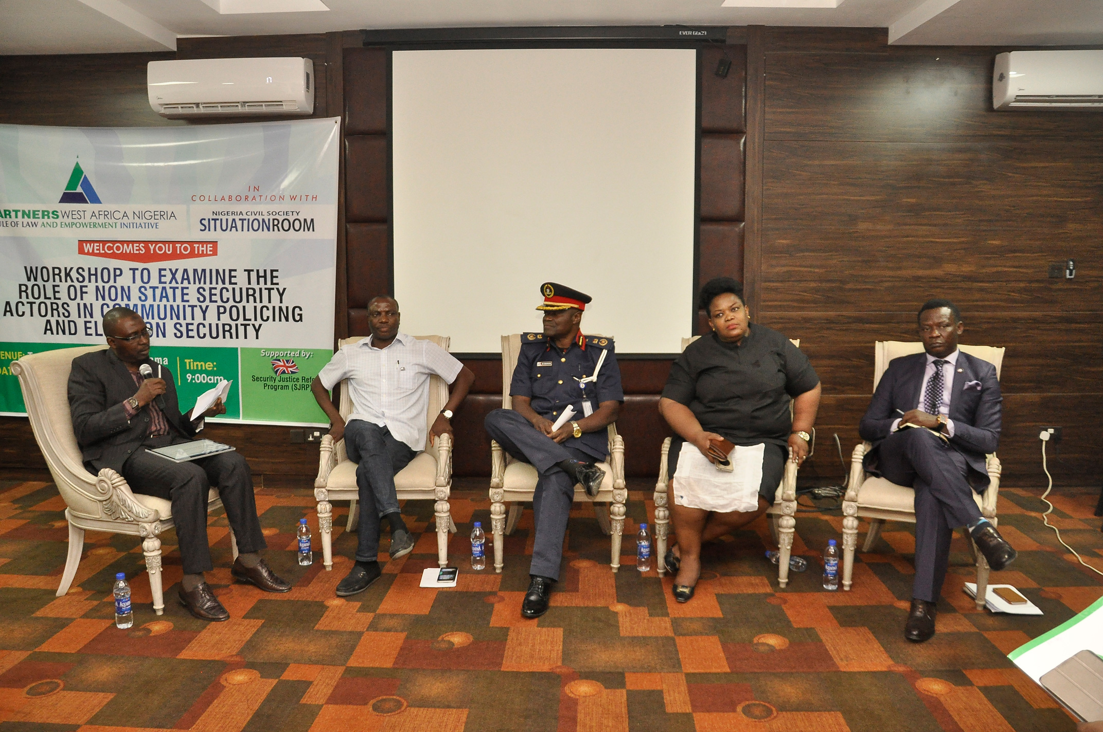 WORKSHOP ON THE ROLE OF NON STATE SECURITY ACTORS IN COMMUNITY POLICING AND ELECTION SECURITY