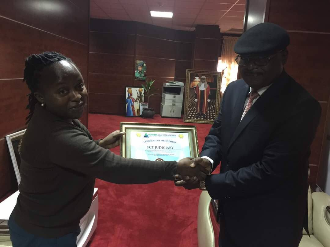 PRESENTATION OF AWARD OF EXCELLENCE: CHIEF JUDGE FCT HIGH COURT